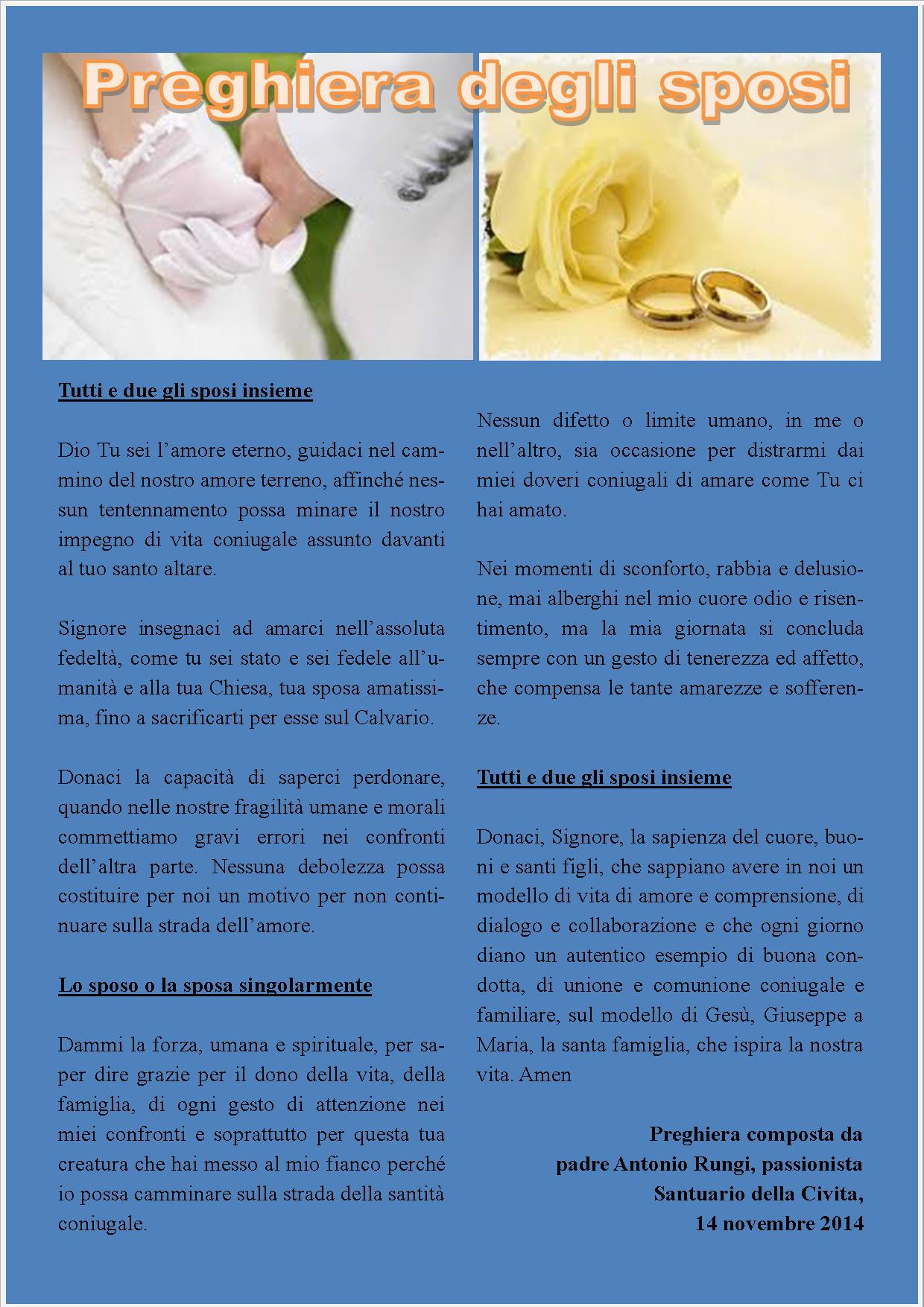 Preghiera archives pagina 2 di 16 padre antonio rungi for Degli sposi