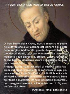 PREGHIERA SAN PAOLO DELLA CROCE